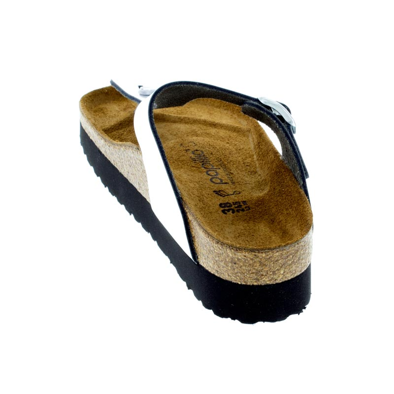 Birkenstock Gizeh Metallic Silver Leather back view
