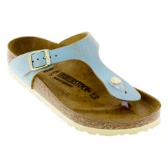 Birkenstock Gizeh Washed Metallic Aqua Sandals