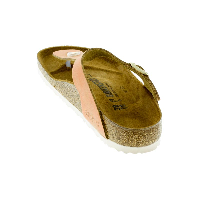 eb61ebc4fe2 Womens Birkenstock Gizeh Washed Metallic Sea Copper Leather ...