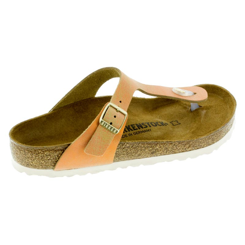 964ab48c74f Birkenstock Gizeh Washed Metallic Sea Copper Leather right side view