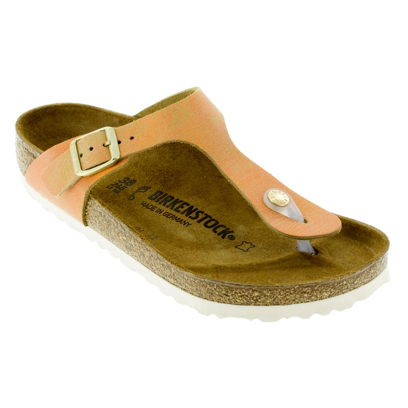 77f12421c63f Womens Birkenstock Gizeh Washed Metallic Sea Copper Leather ...