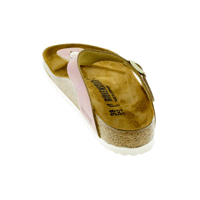 06ee399c150 Womens Birkenstock Gizeh Washed Metallic Pink Leather - Happyfeet.Com