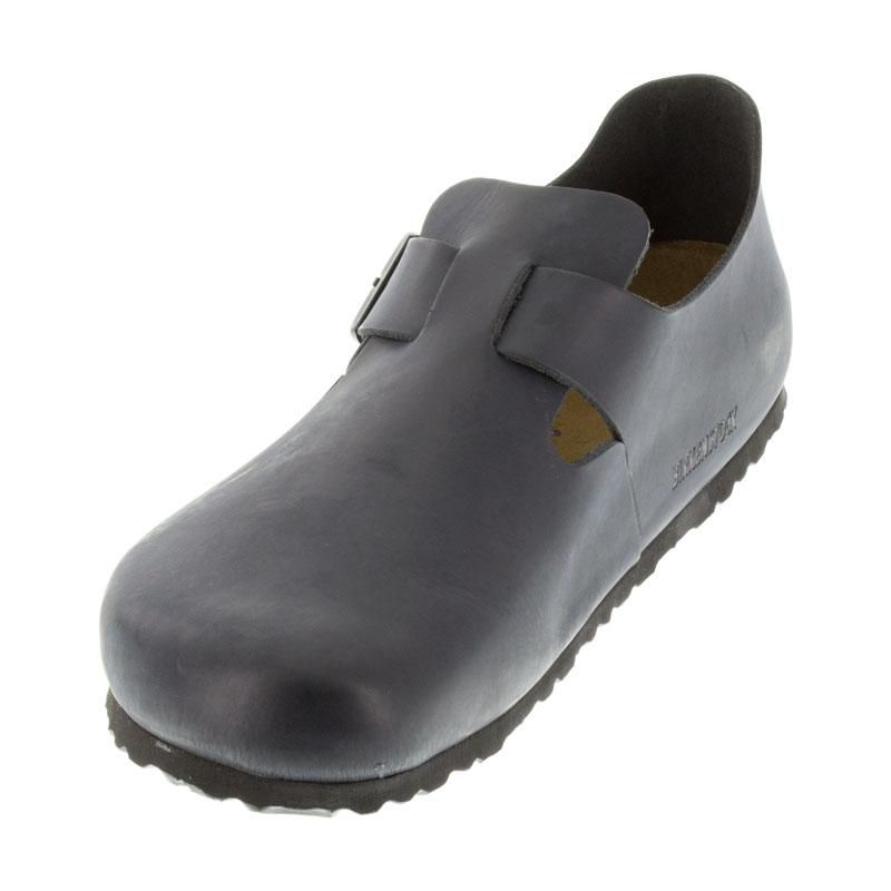 1f6cfdd9c55d Womens And Mens Birkenstock London Black Leather Soft Footbed ...