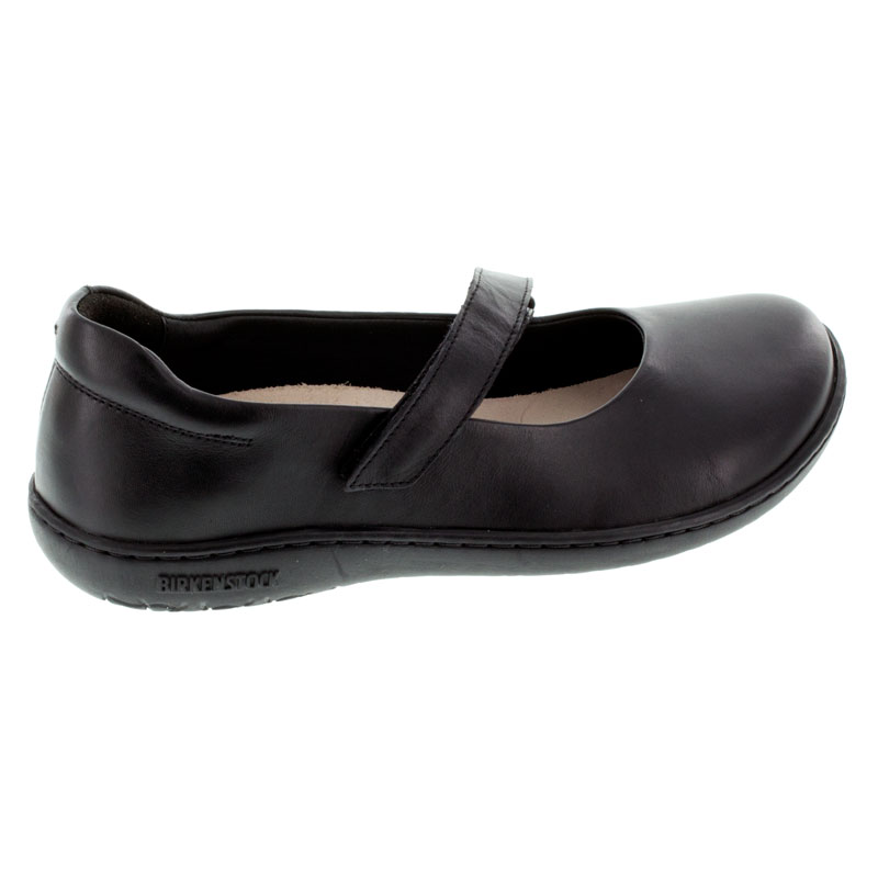 Birkenstock Lora Black Leather Shoes right side view