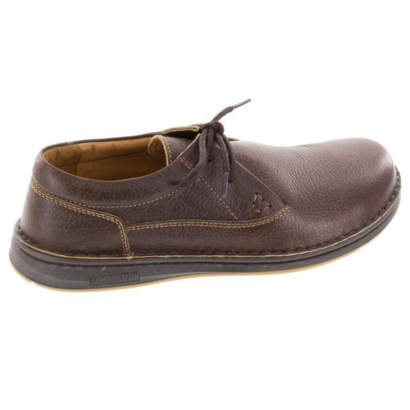 8e910e3c0646 Mens Birkenstock Memphis Dark Brown Leather - Happyfeet.Com