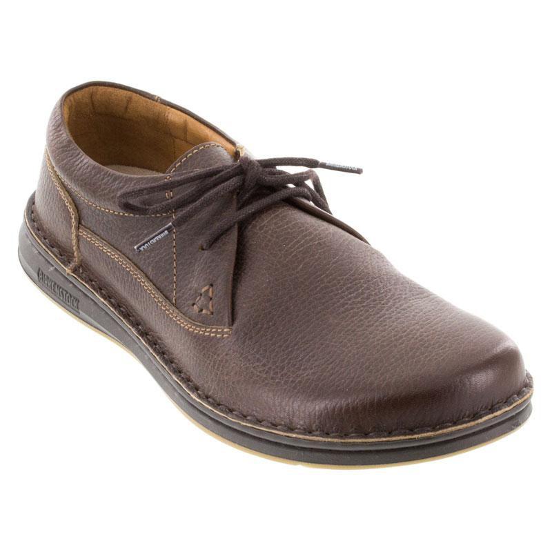 85f04d728642 Mens Birkenstock Memphis Dark Brown Leather - Happyfeet.Com