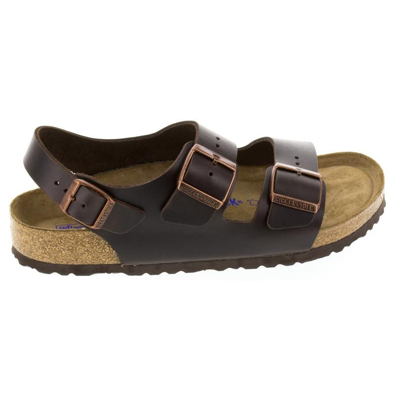 Birkenstock Milano Brown Leather Soft Footbed