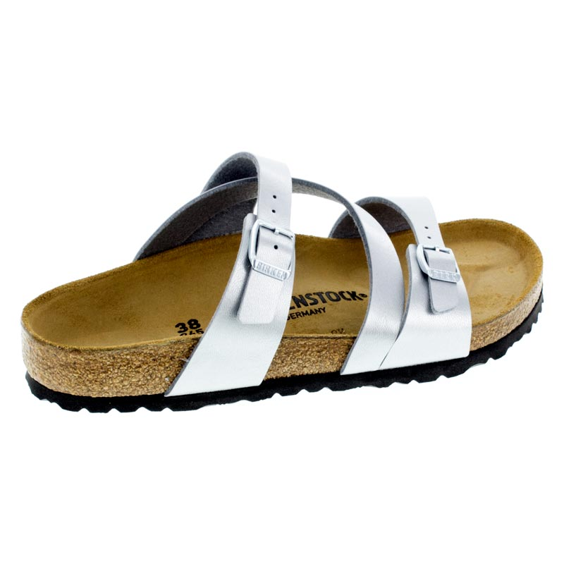Birkenstock Salina Silver Birko-Flor right side view