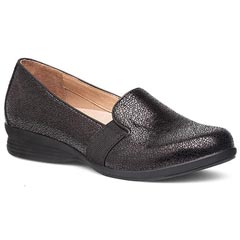 Dansko Addy Black Crackle Shoes