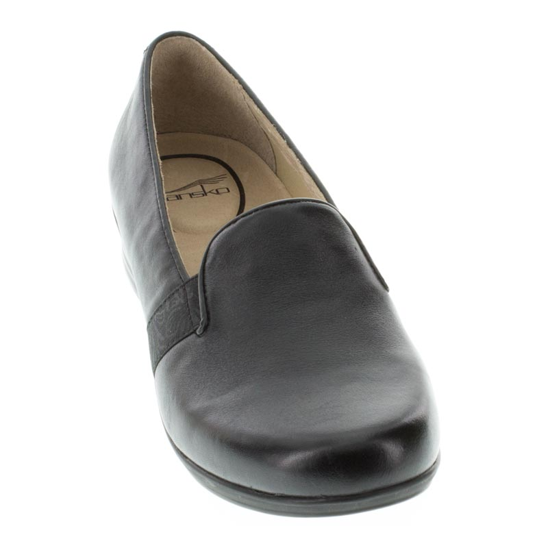 Dansko Addy Black Leather front right shoe