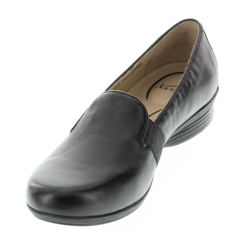 Dansko Addy Black Leather left side front right shoe