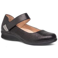 Dansko Audrey Black Crackle Shoes