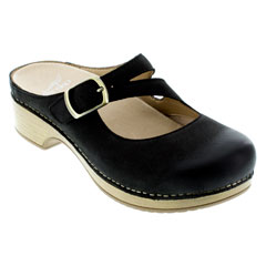 Dansko Britney Black Clogs