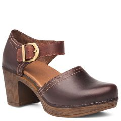 Dansko Darlene Full Grain Leather Chocolate Shoes