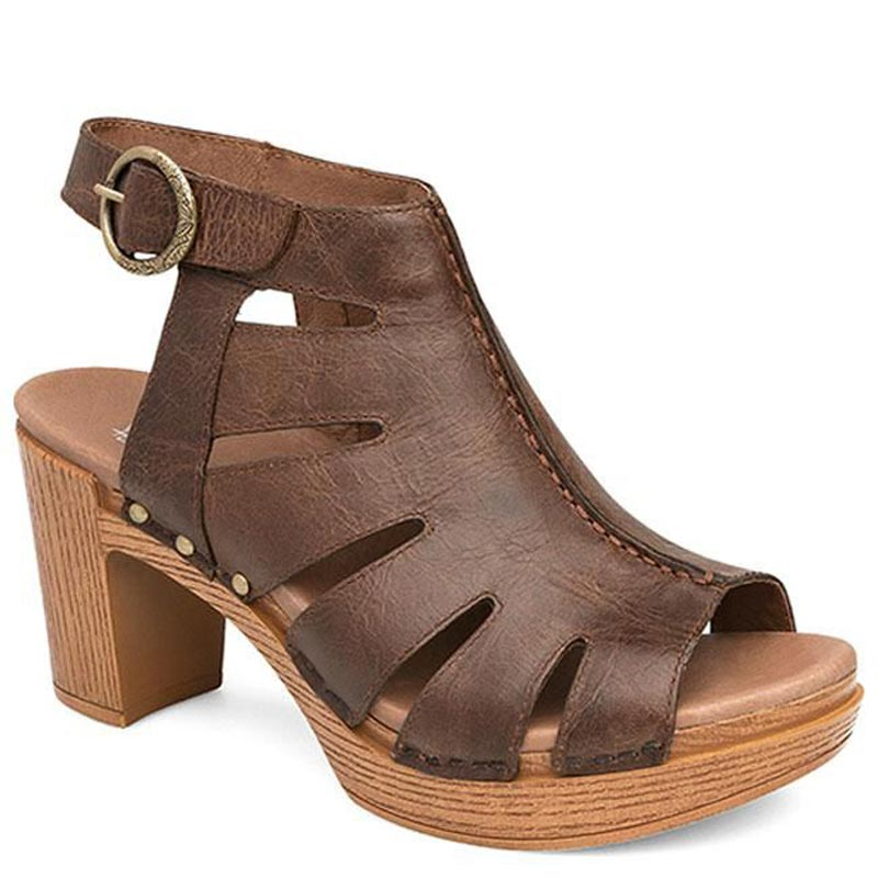 fake sale online Dansko Leather Cut-out Sandals - Demetra cheap sale from china clearance how much store online 2FPefFZ
