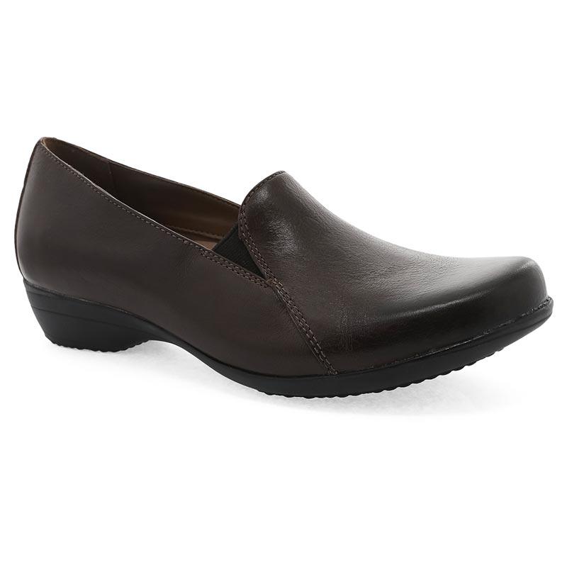 796886fef5e7e6 Dansko Farah Chocolate Shoes. Quality chocolate burnished calf leather form  a classic slip-on ...