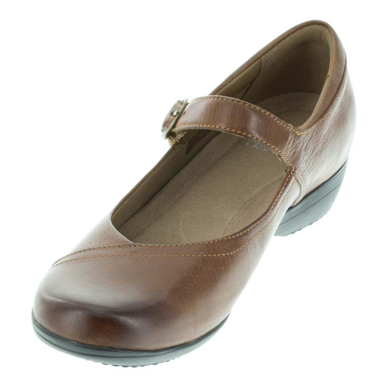 Dansko Fawna Chestnut Leather left front view