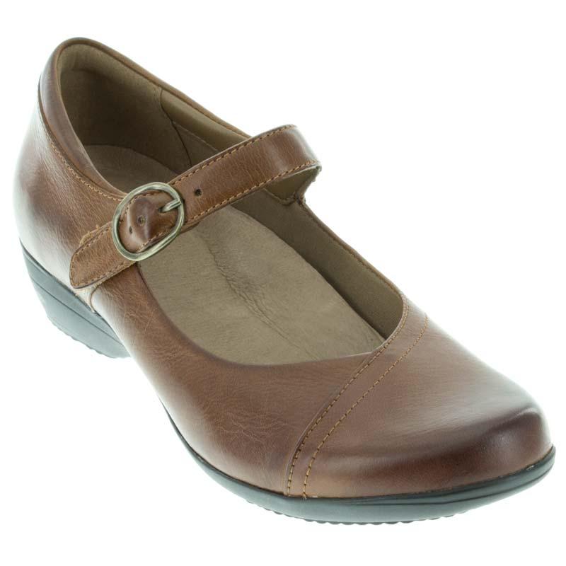 Dansko Fawna Chestnut Leather 42 R