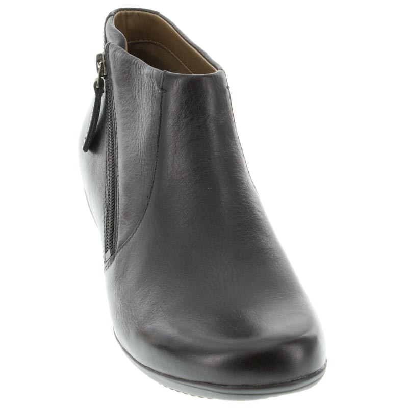 Dansko Fifi Black Leather boots front view
