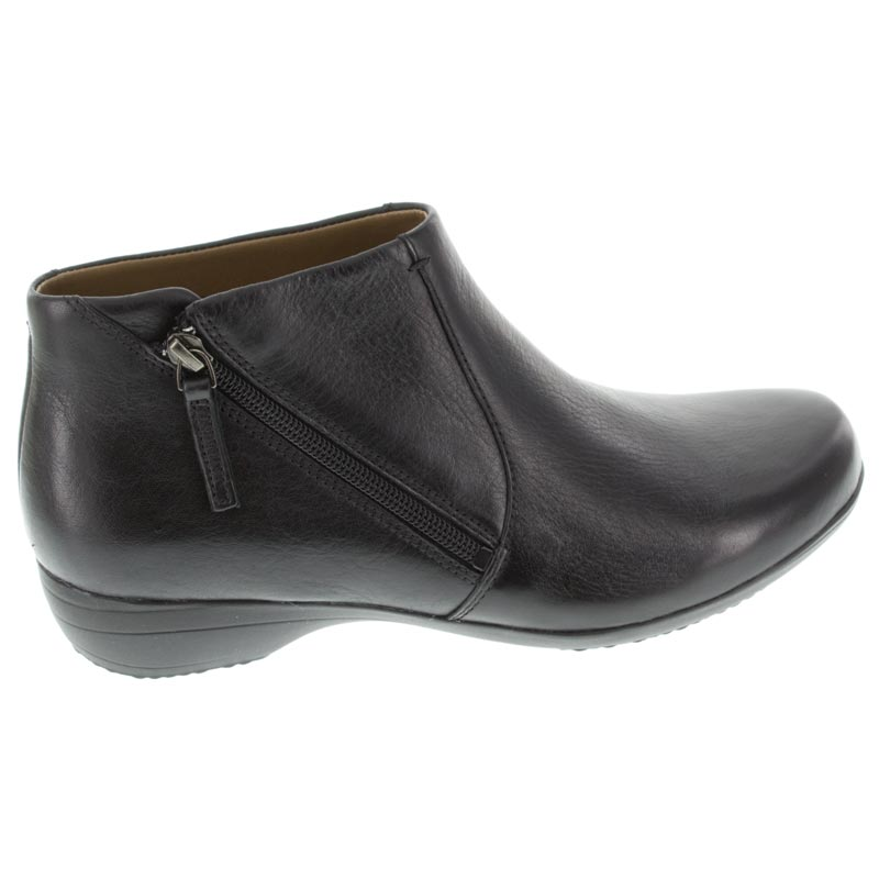 Dansko Fifi Black Leather boots right side view