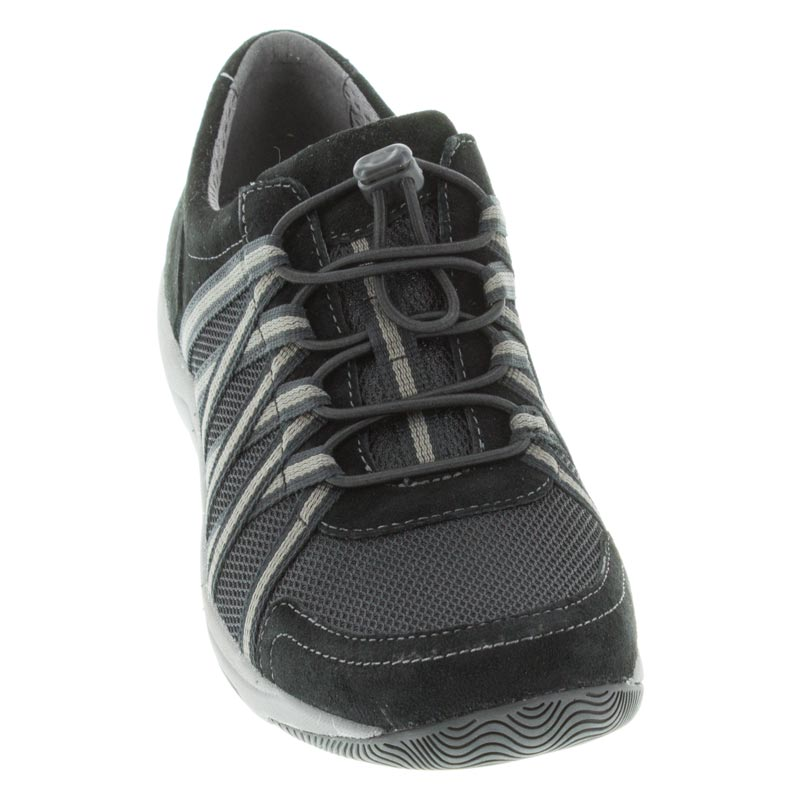 Dansko Honor Black/Black Suede front right shoe