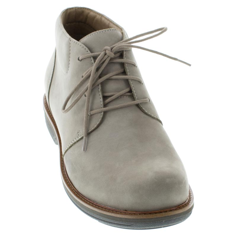 Dansko Jake Taupe Nubuck Slip-Resistant front right shoe