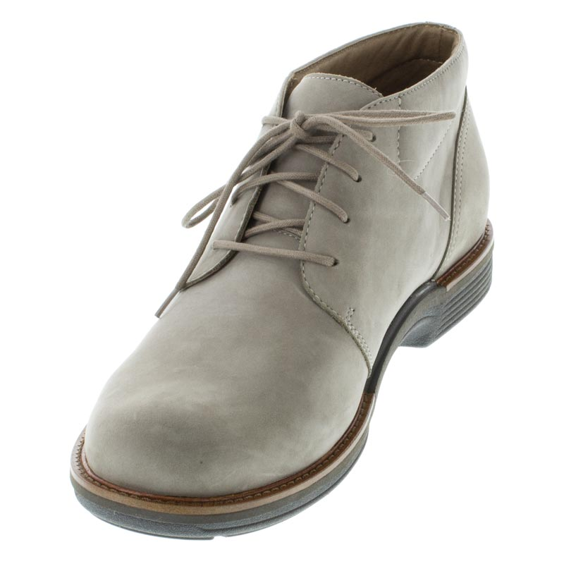 Dansko Jake Taupe Nubuck Slip-Resistant left side front right shoe