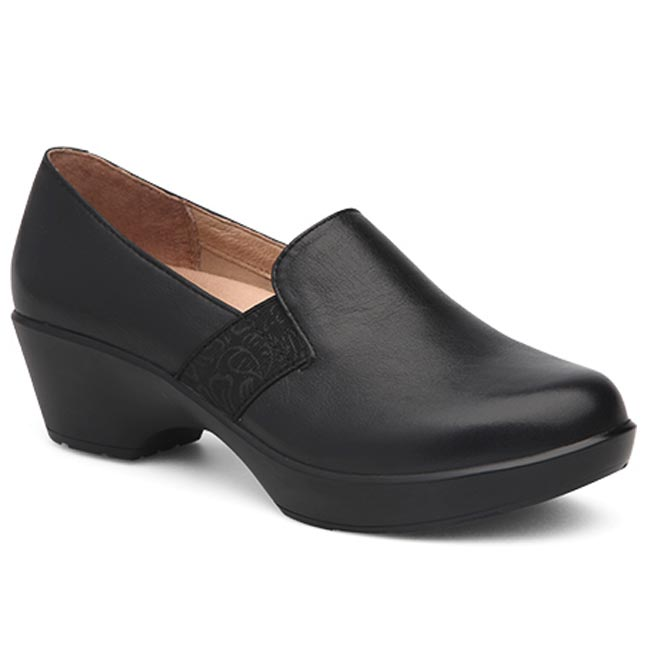 Dansko Jessica Milled Nappa Leather Black Shoes