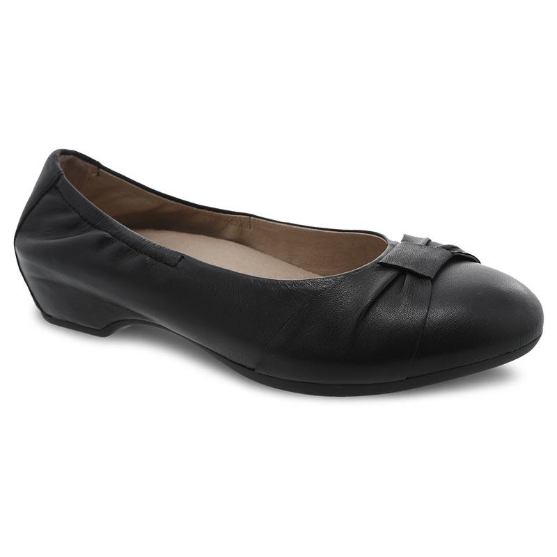 7ebc4b083 Dansko Lina Black Shoes. Fashionable yet comfortable, this classic ballet  ...