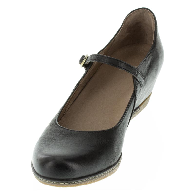 Dansko Loralie Black Nubuck left side front right shoe