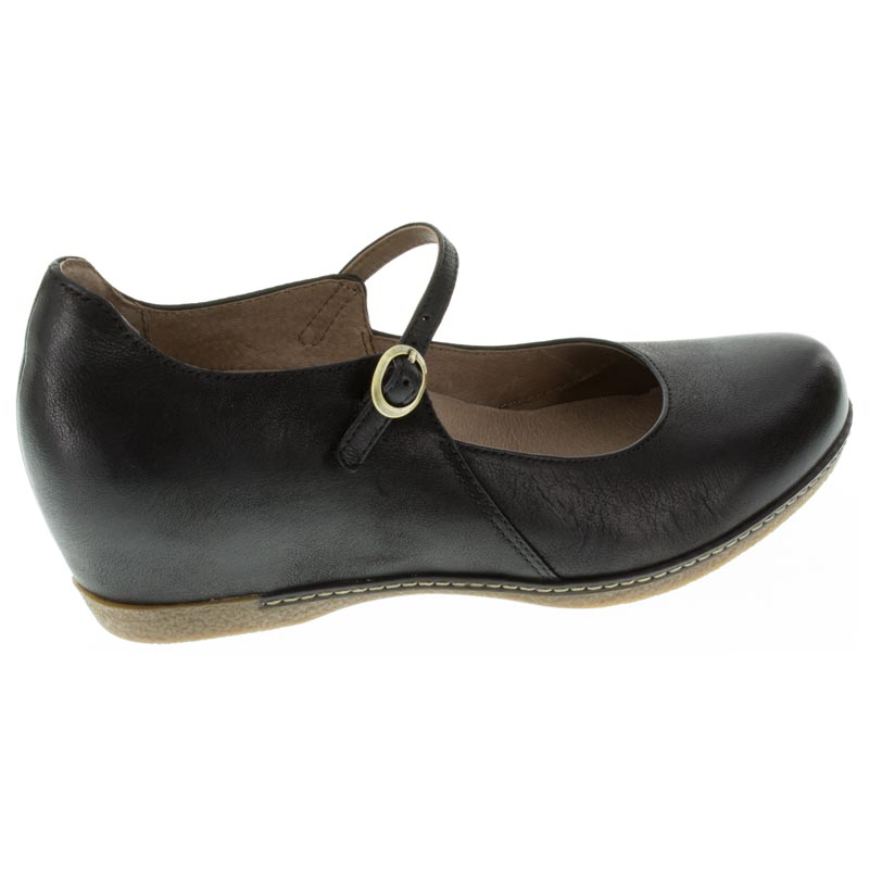 Dansko Loralie Black Nubuck right side right shoe
