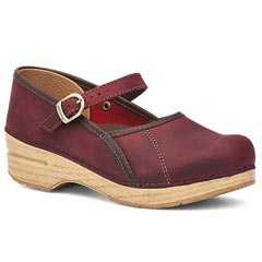 Dansko Marcelle Leather Red Clogs
