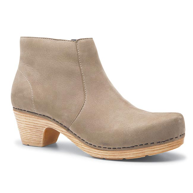 Dansko Maria Milled Nubuck Taupe Boots