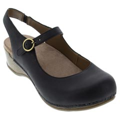 Dansko Maureen Black Clogs