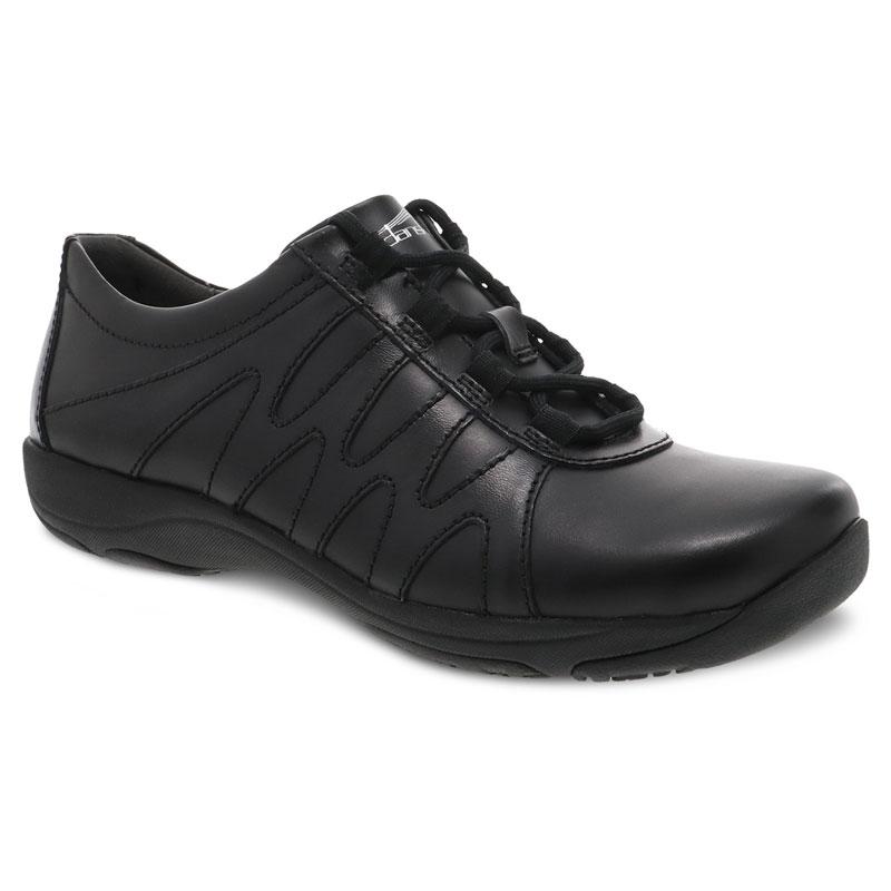 Dansko Neena Black Leather Slip-Resistant 39 R