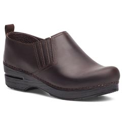 Dansko Piet Oiled Leather Antique Brown Clogs