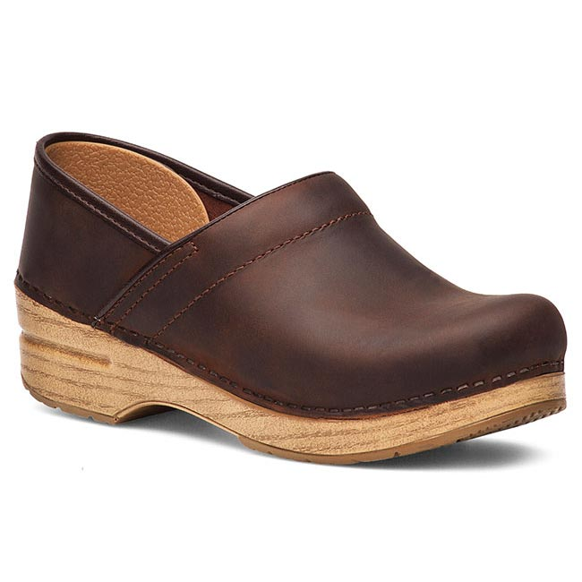 Dansko Professional Oiled Leather Brown Clogs