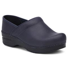 Dansko Professional Leather Blueberry Clogs