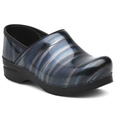 Dansko Professional Patent Leather Silver/Blue Clogs