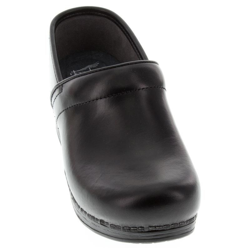 Dansko Pro Xp Black Cabrio Leather Slip-Resistant front