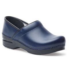 Dansko Professional Box Leather Dark Blue