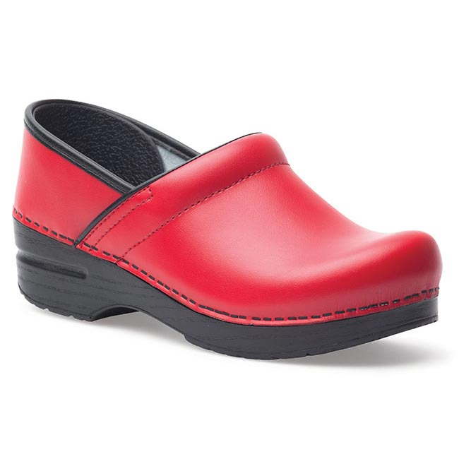 Dansko Professional Box Leather Red
