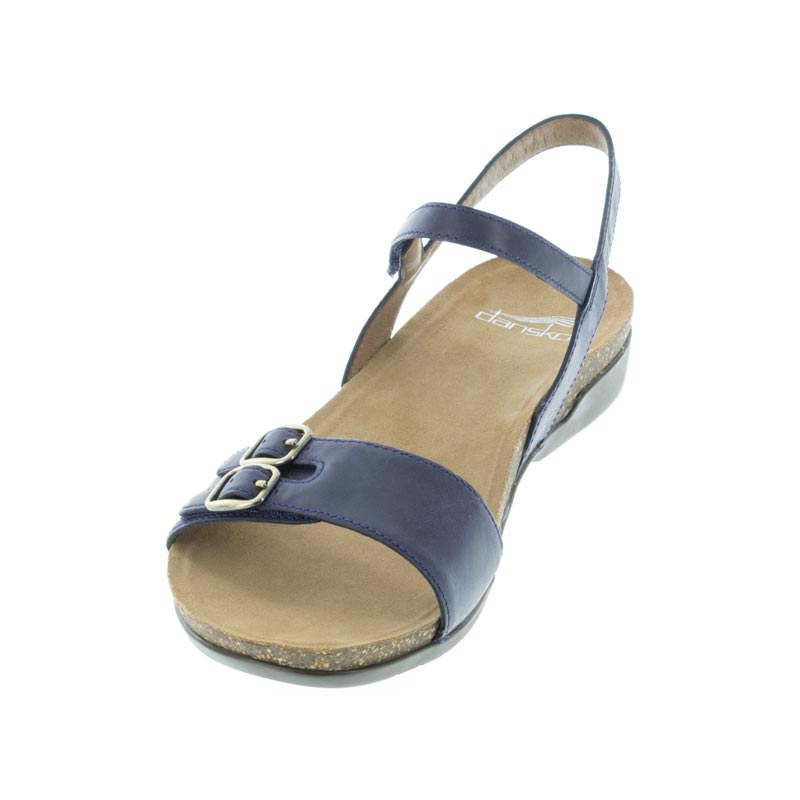 Dansko Rebekah Navy Leather left front view