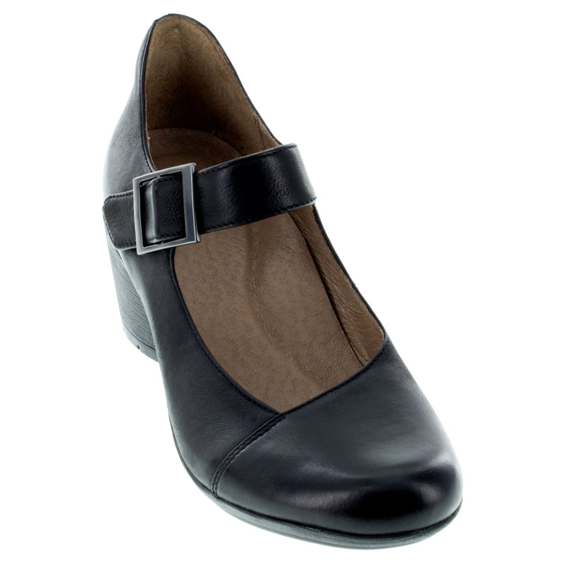 Dansko Roxanne Black Nubuck Shoes front view