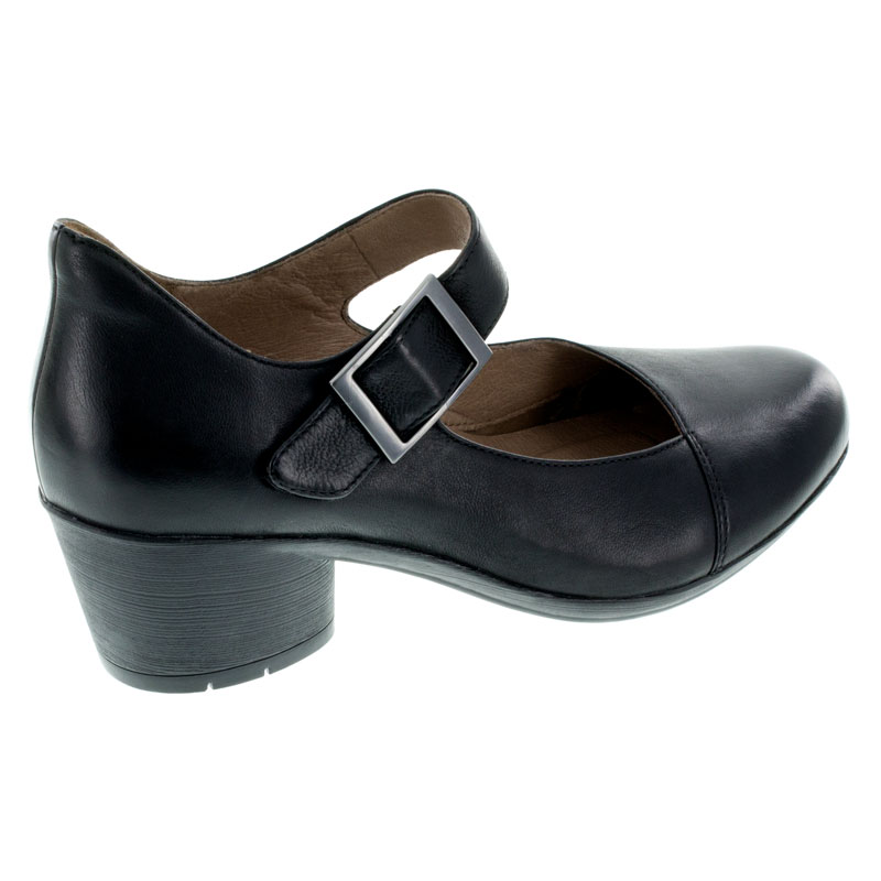 Dansko Roxanne Black Nubuck Shoes right side view
