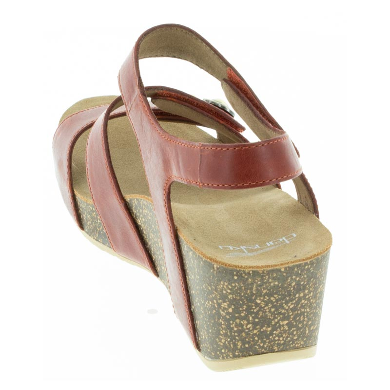 Dansko Savannah Coral Leather sandal back view