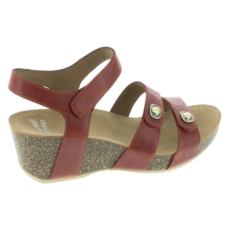 Dansko Savannah Coral Leather sandal right side view