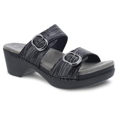 Dansko Sophie Black Metallic Sandals