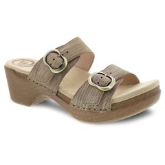 Dansko Sophie Tan Metallic Sandals