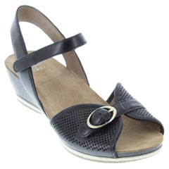 Dansko Vanna Black Sandals
